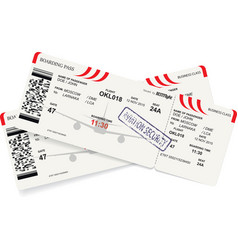 template of airline boarding pass vector image