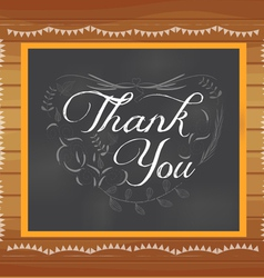 Thank you written on chalkboard vector image
