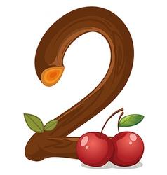 Two cherries vector