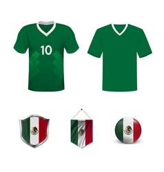 Uniform national football teams mexico vector