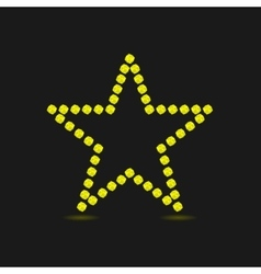 Violent yellow star vector
