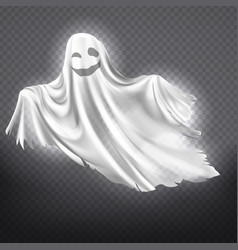 white ghost phantom halloween spooky vector image