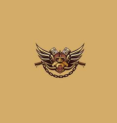 Wild boar motorcycle club logo icon vector