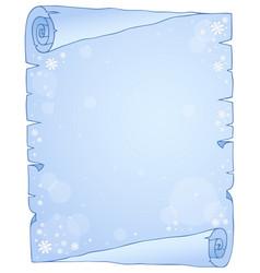 Winter theme parchment 1 vector