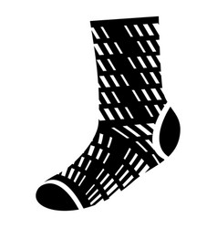 winter wool sock icon simple style vector image