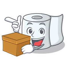With box tissue character cartoon style vector