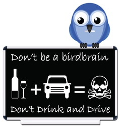 drink and drive message vector image vector image