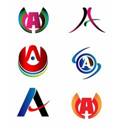Letter A logo design sample icon set vector image vector image