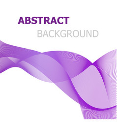 purple line wave abstract background vector image