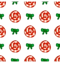 Seamless pattern with lollipop vector image