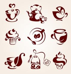 Tea elements set vector image vector image