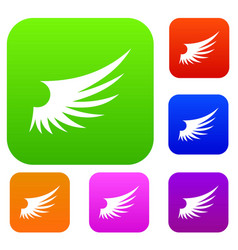 wing set collection vector image vector image