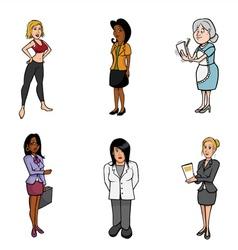 WOMEN cartoons vector image