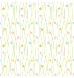 Colorful Flower Seamless Pattern Background vector image