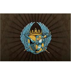 vintage emblem with crest vector image