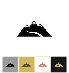 abstract snow mountain icons vector image