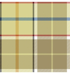 Beige plaid fabric texture seamless pattern vector image