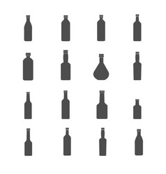 bottle icons set vector image vector image