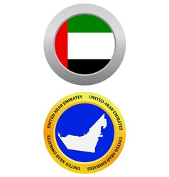 button as a symbol UNITED ARAB EMIRATES vector image vector image