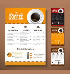 Design a menu for the cafe shops or coffee shops vector image vector image