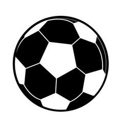 football ball sport play pictogram vector image