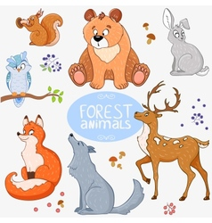 forest animals vector image
