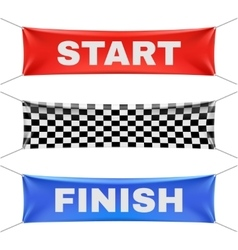 Starting finishing and checkered vinyl banners vector image vector image