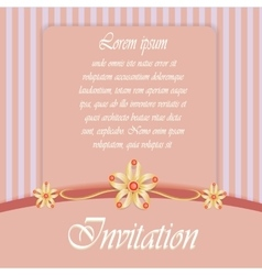 Vintage card with diamond jewelry decoration vector image