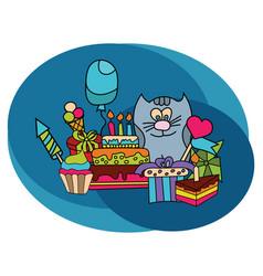 birthday design set vector image