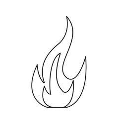 Fire flame bright danger icon line vector