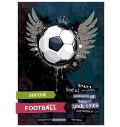 grunge football vector image vector image