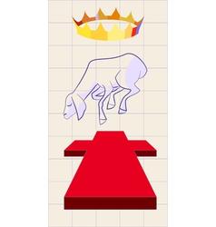 lamb of god vector image vector image
