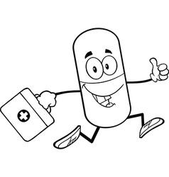 Pill Cartoon vector image vector image