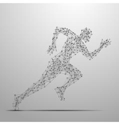 Running man polygonal vector image vector image