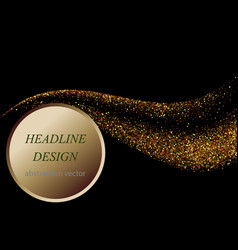 abstract gold waves design shiny golden moving vector image