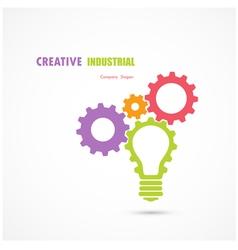 abstract industrial logo design vector image