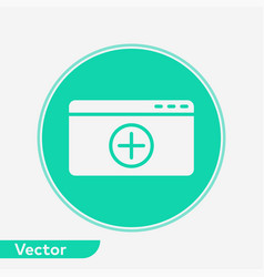 add web page icon sign symbol vector image
