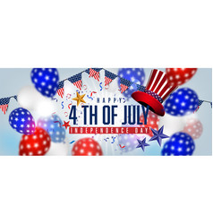 American balloons flag decor 4th july vector