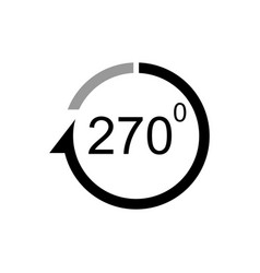 Angle 270 degrees icon vector