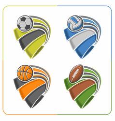 Balls ribbons vector