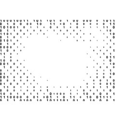 binary computer code halftone pattern vector image