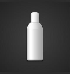 blank plastic bottle mockup vector image