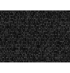 Blink binary code screen black vector image