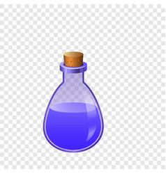 blue flask icon cartoon style vector image