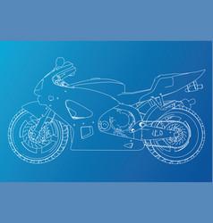 Blueprint sport bike eps10 format created vector