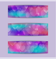 Blurry hearts background vector