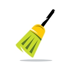 Broom cartoon vector