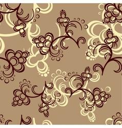 Brown Flower Pattern vector