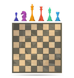 Chess board game vector