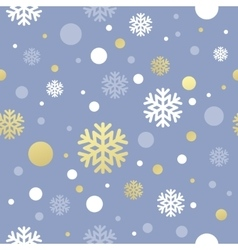 Christmas pink seamless pattern with golden white vector